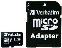 Сard de memorie Verbatim microSD 32Gb UHS-I Class10 A1 (44083)