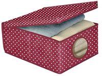 Коробка для хранения BORDEAUX 50X40X25cm тканевая с крышкой