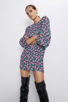 Платье ZARA Черный в цветочек 4886/270/800
