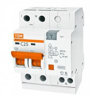 АД12 2Р 10A 30mA automat dif. TDM