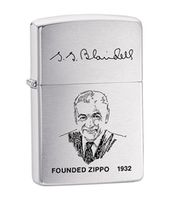 Zippo 200 FL Zippo Founder's Lighter Brushed Chrome