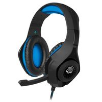 cumpără SVEN AP-G887MV, Gaming Headphones with microphone, 3.5 mm (4 pin) or 2*3.5 mm (3 pin) stereo mini-jack (connector for PC), volume control on the cable, Non-tangling cable with fabric braid, Cable length: 2.2m, Black/Blue în Chișinău