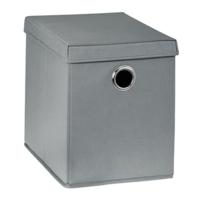 купить Бокс с крышкой для хранения 260x385x320 mm, серый в Кишинёве