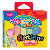 Пластилин флуоресцентный 6 цв. 100 гp Colorino