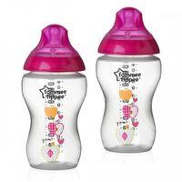 Tommee Tippee бутылочка пластиковая с рисунком Pink 3+мес. 340мл. 2шт