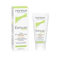 Noreva EXFOLIAC Cremă tratamentul acneei + fon de ten deschis 30 ml