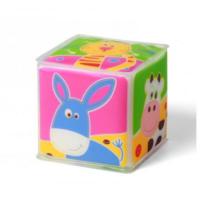 BabyOno кубик мягкий Домашние животные, 1шт