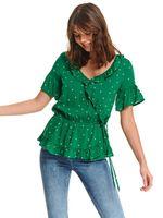 Блуза TOP SECRET Зеленый в горошек