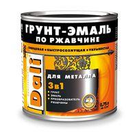 Dali Грунт-эмаль по ржавчине 3в1 Желтая 0.75л