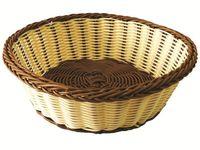 Корзинка для хлеба плетеная круглая D27cm, H8cm
