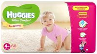 Huggies Ultra Comfort Giga Girl 4+ (10-16 кг.) 68 шт.
