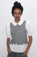 Блуза ZARA Белый/черный 2478/262/250