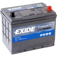 **АКБ Exide  PREMIUM 12V  75Ah  630EN  270x173x222 -/+ (Japan), EA754