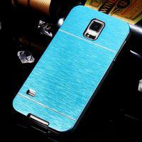 Husa de protectie INO Metal GO COOL pentru Galaxy S5, Cyan