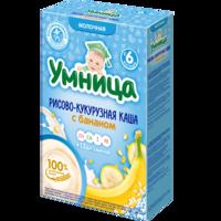 Каша Умница молочная рисово-кукурузная с бананом с 6 мес 200г