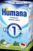 Humana 1 молочная смесь с пребиотиками, 0+  мес, 600 г