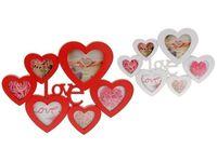 """Рамка для фото-коллаж """"Love"""" 50.5x37x2.5 см, 6 фото"""