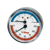 Термоманометр с осевым подключением 1/2, 4 BAR