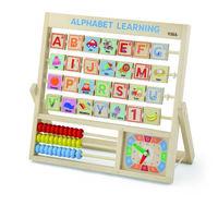 Viga Деревянная игрушка Счеты алфавита и часы