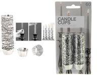 Set de sigilii pentru luminari din folie-aluminiu 60buc
