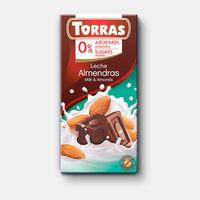 Шоколад молочный с мендалем без сахара, без глютена Torras  75г