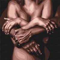 Pictura pe numere 40x40 Îmbrățișează-ți iubitul  4684