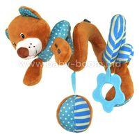 """Baby Mix STK-16432B Спираль для коляски """"Мишка"""" голубой"""