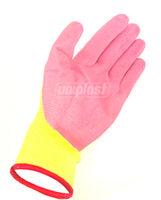 купить Перчатки с латексным покрытием арт.U409 (розовые/зеленые)   (M/8) в Кишинёве