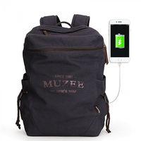 """Рюкзак Muzee ME1189,для ноутбука 14"""", с USB портом, фиолетовый"""