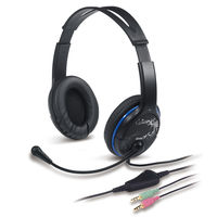Headset Genius HS-400A with microphone, volume control, Blue