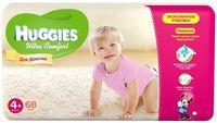 Huggies подгузники Ultra Comfort 4+ для девочек 10-16кг, 68шт
