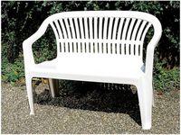 Скамья садовая пластиковая 140X50X80cm, белая