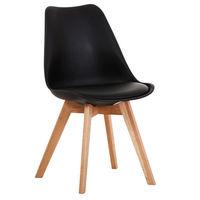 Деревянный стул с деревянными ножками, 520x480.5x820 мм, черный