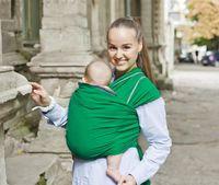 Трикотажный слинг-шарф Зеленый WrapBag by Bagy