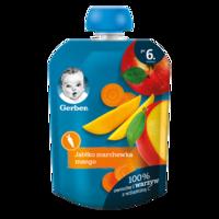Pireu Gerber de mere, morcov, mango (6+ luni), 90g