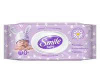 Детские влажные салфетки с клапаном Smile Baby, ромашка и алоэ вера, 72 шт.