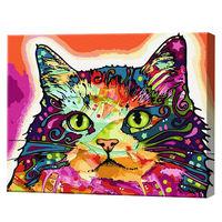Motan multicolor, 40х50 cm, pictură pe numere Articol: GX25863