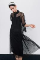 Платье ZARA Чёрный 8779/628/800