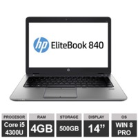 "Ноутбук HP EliteBook 840 G1 (133259) (14"" i5-4300U 4GB 500GB HDGraphics Win8 PRO)Silver"