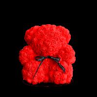 купить Медведь из красных роз 25 см в Кишинёве