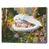Спящий ангелок в лесу, 40x50 см, алмазная мозаика Артукул: QA203865