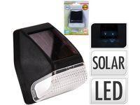 Фонарь на солнечной батарее настенный 2LED, 7X6cm, черный