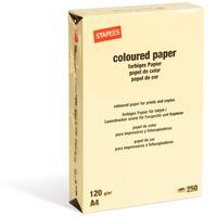 Бумага STAPLES А4, 120г/м2, 250 листов желтая