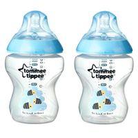 Tommee Tippee бутылочка пластиковая с рисунком Blue, 0+мес. 260мл. 2шт