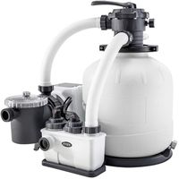 Intex песочный фильтр насос с хлоргенератором Кrystal Clear 10000 л/ ч