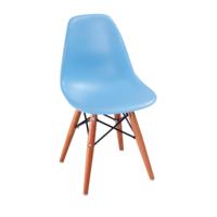 купить Пластиковый стул с деревянными ножками и металлической подставкой, 420x400x330 мм, черный в Кишинёве