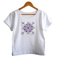 Женская футболка с ручной вышивкой - Рэдэуць