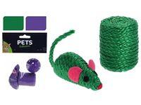 Игрушки для кошек 2 ед (мышка, моток) Pets