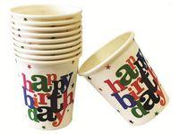 """купить Набор стаканов бумажных """"Happy Birthday!"""" 10шт, 250ml в Кишинёве"""