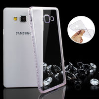 Fashion Diamonds TPU case Samsung S7, Silver